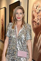Laura Pradelska at the launch of the new JD Malat Gallery, 30 Davies Street, London, England. 05 June 2018.