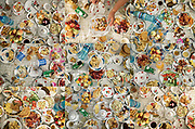 Mosaic of food proposed in the restaurant of the Pamir region. Khorog area, Tajikistan.
