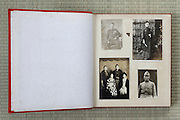 open page of a family photo album Japan Asia 1930s and earlier