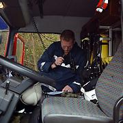 Grote brand Quest International Naarden, meetploeg brandweer geeft resultaten door aan meldkamer