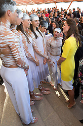 The Duke and Duchess of Cambridge arrive in Sydney at the start of their Official Visit to Australia. After landing at Sydney airport Prince William and Catherine went to a civic reception at the Sydney Opera House. William and Kate view the ICC Cricket World Cup, and are given cricket bats and a cap for Prince George. UK OUT for 28 days from date of creation . Picture by i-Images