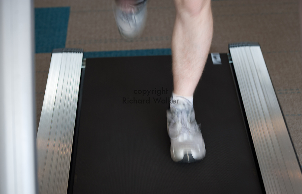 2012 March 30 - Runner on a treadmill getting exercise, Seattle WA. By Richard Walker