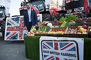 Stephen Crabb MP at the National Farmers Union NFU took machinery, produce, farmers and staff to Westminster to encourage Members of Parliament to back British farming, post Brexit on 14th September 2016 in London, United Kingdom. MPs were encouraged to sign the NFU's pledge and wear a British wheat and wool pin badge to show their support.