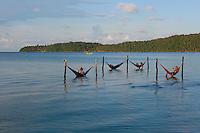 hammocks-Koh Rong Samloen Island-Cambodia