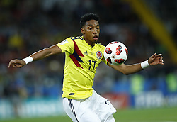 July 3, 2018 - Moscow, Russia - Round of 16 England v Colombia - FIFA World Cup Russia 2018.Johan Mojica (Colombia) at Spartak Stadium in Moscow, Russia on July 3, 2018. (Credit Image: © Matteo Ciambelli/NurPhoto via ZUMA Press)