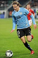 Fotball<br /> Sveits v Uruguay<br /> 03.03.2010<br /> Foto: Gepa/Digitalsport<br /> NORWAY ONLY<br /> <br /> Bild zeigt Diego Forlan (URU).