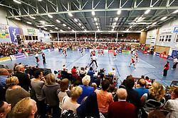 20150425 NED: Eredivisie VC Sneek - Eurosped, Sneek<br />Overview Sneker Sporthal, Sneek, meer dan 1500 toeschouwers<br />©2015-FotoHoogendoorn.nl / Pim Waslander