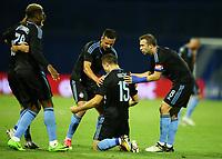 27.07.2017., Zagreb, Croatia - <br /> UEFA Europa League Third qualifying round, Game 1.  Dinamo Zagreb vs Odd. <br /> Armin Hodzic, Domagoj Antolic.<br /> .<br /> <br /> Norway only