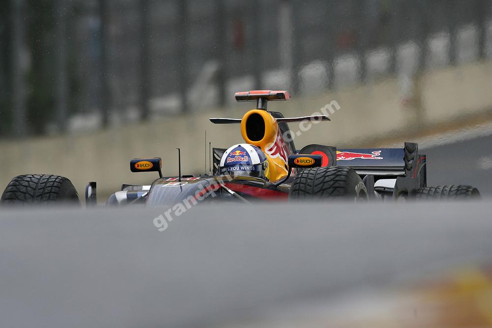 David Coulthard (Red Bull-FerrariI during practice for the 2007 Brazilian Grand Prix at Interlagos in Sao Paulo. Photo: Grand Prix Photo
