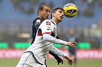 "Rodrigo Palacio Inter Mario Sampirisi Genoa.Milano 22/12/2012 Stadio ""S.Siro"".Football Calcio Serie A 2012/13.Inter v Genoa.Foto Insidefoto Paolo Nucci."