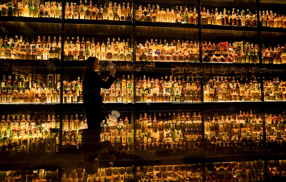 A women samples a whisky  at  the newly refurbished Scottish Whiskey Experience centre in Edinburgh,  home the Worlds Largest collection of Scotch Whiskies in celebration of Whisky month..Picture Michael Hughes/Maverick