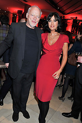 DAVID GILMOUR and POLLY SAMSON at the Costa Book Awards 2012 held at Quaglino's, 16 Bury Street, London SW1 on 29th January 2013.