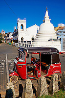 Sri Lanka, province du sud, district de Galle, Galle, Vieille ville classée patrimoine mondial de l'UNESCO // Sri Lanka, Southern Province, South Coast beach, Galle, old town, Dutch fort, UNESCO World Heritage site