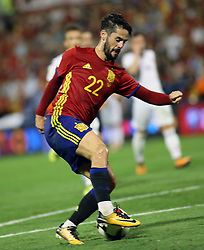 Isco Alarcon of Spain in action during the World Cup qualification match between Spain vs Albania in Alicante, Spain, on October 06, 2017. Photo by Giuliano Bevilacqua/ABACAPRESS.COM