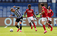 Sheffield Wednesday's Connor Wickham shields the ball from Nottingham Forest's Nuno Da Costa<br /> <br /> Photographer Rich Linley/CameraSport<br /> <br /> The EFL Sky Bet Championship - Sheffield Wednesday v Nottingham Forest - Saturday 20th June 2020 - Hillsborough - Sheffield <br /> <br /> World Copyright © 2020 CameraSport. All rights reserved. 43 Linden Ave. Countesthorpe. Leicester. England. LE8 5PG - Tel: +44 (0) 116 277 4147 - admin@camerasport.com - www.camerasport.com