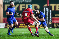 Leinster's Jack Conan in action <br /> <br /> Photographer Craig Thomas/Replay Images<br /> <br /> Guinness PRO14 Round 17 - Scarlets v Leinster - Friday 9th March 2018 - Parc Y Scarlets - Llanelli<br /> <br /> World Copyright © Replay Images . All rights reserved. info@replayimages.co.uk - http://replayimages.co.uk