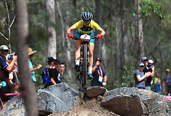 Australia's Rebecca McConnell competes in the Women's Cross-country at the Nerang Mountain Bike Trails during day eight of the 2018 Commonwealth Games in the Gold Coast, Australia.