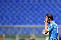 Gonzalo Higuain Napoli Delusione Dejection <br /> Roma 04-04-2015 Stadio Olimpico, Football Calcio Serie A AS Roma - Napoli Foto Andrea Staccioli / Insidefoto