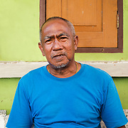Portrait of Thai man in Thon Buri neighbourhood of Bangkok