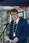 Deputy Mayor Cllr Neill McNelius at the opening of the Galway Bike Festival on Saturday. Photo:-XPOURE.IE / NO FEE