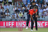 Liam Plunkett during the International T20 match between England and India at Old Trafford, Manchester, England on 3 July 2018. Picture by George Franks.
