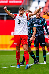 Justin Hoogma of FC Utrecht celebrate during eredivisie round 03 between FC Utrecht and RKC at Nieuw Galgenwaard stadium on September 27, 2020 in Utrecht, Netherlands