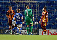 Goal scored by Jordan Sinnott of Chesterfield  during the EFL Trophy match between Chesterfield and Bradford City at the b2net stadium, Chesterfield, England on 29 August 2017. Photo by Paul Thompson.