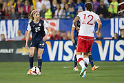 FRISCO, TX - JANUARY 31:  Morgan Brian #25 of the U.S. Women's National Team controls the ball against the Canadian Women's National Team on January 31, 2014 at Toyota Stadium in Frisco, Texas.  (Photo by Cooper Neill/Getty Images) *** Local Caption *** Morgan Brian