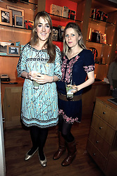 Left to right, LUCY BEAUMONT and KATE NAYLOR at the Linley Christmas party at their store at 60 Pimlico Road, London on 19th November 2008.