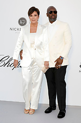 May 23, 2019 - Antibes, Alpes-Maritimes, Frankreich - Kris Jenner and Corey Gamble attending the 26th amfAR's Cinema Against Aids Gala during the 72nd Cannes Film Festival at Hotel du Cap-Eden-Roc on May 23, 2019 in Antibes (Credit Image: © Future-Image via ZUMA Press)
