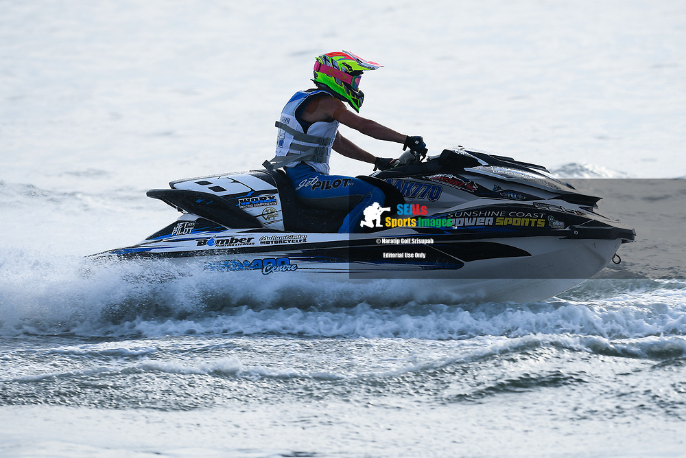 PATTAYA, THAILAND - DECEMBER 09: Bailey Cunningham (81) of Australia and Sunshine Coast Powersports in action during the Pro Runabout GP Moto4 at the Thai Airways International Jet Ski World Cup 2018, Jomtien Beach, Pattaya, Thailand on December 09, 2018. <br /> .<br /> .<br /> .<br /> (Photo by: Naratip Golf Srisupab/SEALs Sports Images)<br /> .<br /> Any image use must include a mandatory credit line adjacent to the content which should read: Naratip Golf Srisupab/SEALs Sports Images