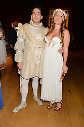 RICHARD DENNEN and the HON.PHILIPPA CADOGAN at the Tatler & Christie's Art Ball held at Christie's, 7-15 Ryder Street, London on 12th June 2014.