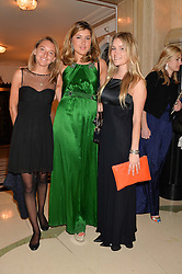 Left to right, ALEXANDRA DONEGAN, ANTONIA SHOWERING and OLIVIA FRANKLIN at the Tusk Friends Dinner in aid of wildlife charity Tusk held at Claridge's, Brook Street, London on 11th March 2014.