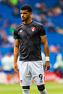 Bournemouth forward Dominic Solanke (9) during the pre-match warm-up before the EFL Sky Bet Championship match between Cardiff City and Bournemouth at the Cardiff City Stadium, Cardiff, Wales on 18 September 2021.