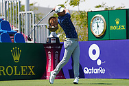 Jason Scrivener (AUS) on the 1st during Round 2 of the Commercial Bank Qatar Masters 2020 at the Education City Golf Club, Doha, Qatar . 06/03/2020<br /> Picture: Golffile | Thos Caffrey<br /> <br /> <br /> All photo usage must carry mandatory copyright credit (© Golffile | Thos Caffrey)