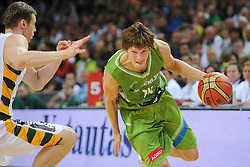 Jaka Klobucar of Slovenia during friendly match between National Teams of Slovenia and Lithuania before World Championship Spain 2014 on August 18, 2014 in Kaunas, Lithuania. Photo by Robertas Dackus / Sportida.com