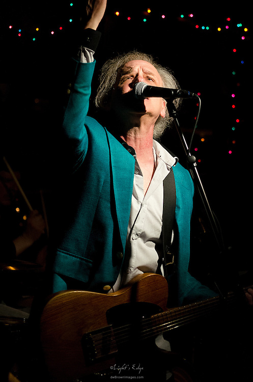 Richard Bush of The Peace Creeps perfoming at The Bus Stop Music Cafe.