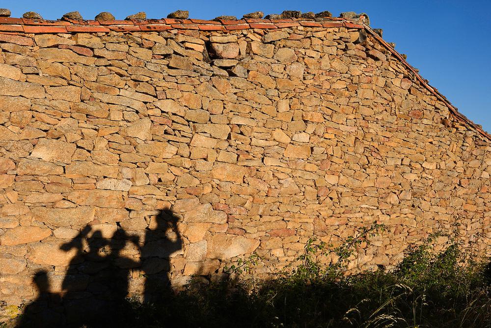 Hiking in the Faia Brava reserve, Coa valley, Portugal Western Iberia rewilding area