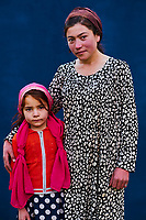 Tadjikistan, Asie centrale, Monts Fan, la vallée du Yagnob, portarit de 2 soeurs  // Tajikistan, Central Asia, Fann Mountains, Yagnob valley, two sisters portrait