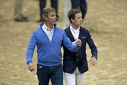 Eric and Maikel Van der Vleuten, (NED) <br />  Longines FEI World Cup™ Jumping Final Las Vegas 2015<br />  © Hippo Foto - Dirk Caremans<br /> Final III round 2 - 19/04/15