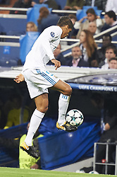 October 17, 2017 - Madrid, Spain - Raphael Varane (defender; Real Madrid) in action during the UEFA Champions League match between Real Madrid and Tottenham Hotspur at Santiago Bernabeu on October 17, 2017 in Madrid (Credit Image: © Jack Abuin via ZUMA Wire)