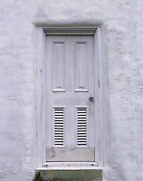 AA03269-02...NORTH CAROLINA - Door to the Ocracoke Lighthouse on Ocracoke Island on the Outer Banks.