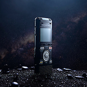 Olympus recorder in the style of 2001's monolith