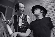 Ian Dury with BP Fallon at Blackhil 1978