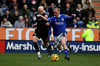 Photo: Pete Lorence.<br />Leicester City v West Bromwich Albion. Coca Cola Championship. 24/02/2007.<br />Iain Hume and Richard Chaplow battle for the ball.