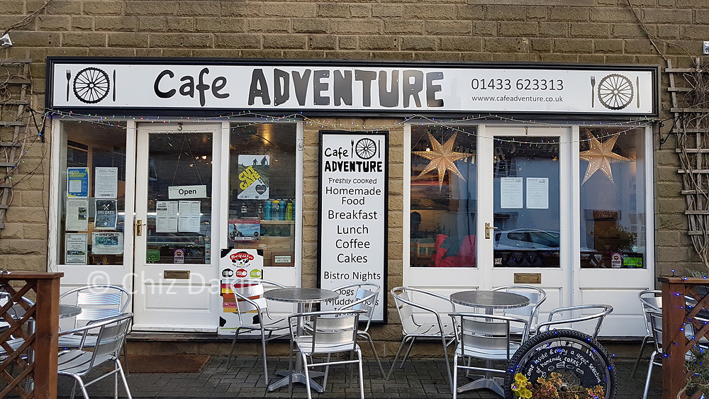 Outside of Adventure Cafe