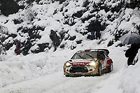 MOTORSPORT - WORLD RALLY CAR CHAMPIONSHIP 2014 - MONTE CARLO RALLY  - MONACO / GAP / MONACO 16 TO 19/01/2014 - PHOTO: BASTIEN BAUDIN / DPPI - 04	CITROEN TOTAL ABU DHABI WRT (FRA) / OSTBERG MADS ANDERSSON JONAS - (NOR SWE) / CITROEN DS3 - ACTION