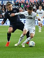 Football - 2018 / 2019 Sky Bet EFL Championship - Swansea City vs. Derby County<br /> <br /> Martyn Waghorn Derby County & Matt Grimes Swansea City, at The Liberty Stadium.<br /> <br /> COLORSPORT/WINSTON BYNORTH