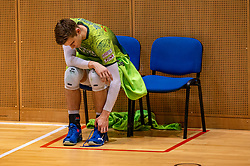 Colin Zuijdgeest of Orion disappointed after the semi cupfinal between Active Living Orion vs. Amysoft Lycurgus on April 03, 2021 in Saza Topsportshall Doetinchem