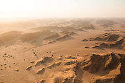 Aerial view of desert, Skeleton Coast, hoanib river, Northern Namibia, Southern Africa
